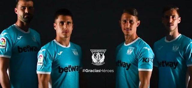 Fútbol.- El Leganés homenajeará con su nueva equipación a los héroes en la lucha