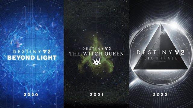 Triología de expansiones de Destiny 2.