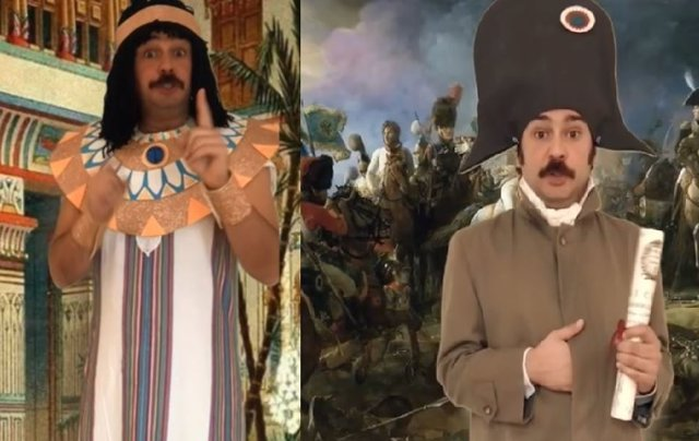 Un profesor de Sociales se disfraza de personajes históricos para sus alumnos