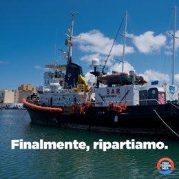 Europa.- El 'Mare Jonio' reanuda la búsqueda y rescate de migrantes en el Medite