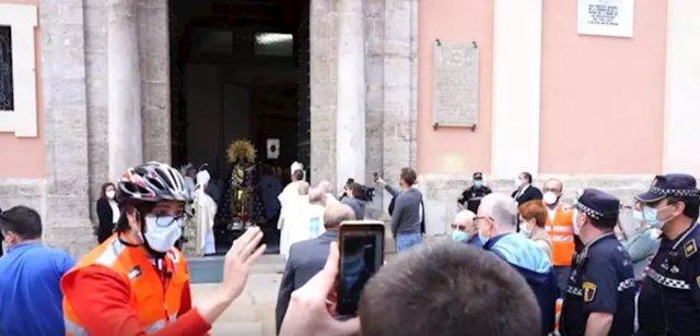 La Basílica muestra la imagen de la Virgen