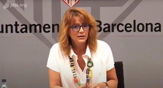 La tinent d'alcalde d'Agenda 2030 i Transició Digital, Laia Bonet, presenta la subvenció de projectes d'innovació per a la reactivació econòmica per la crisi del Covid-19.
