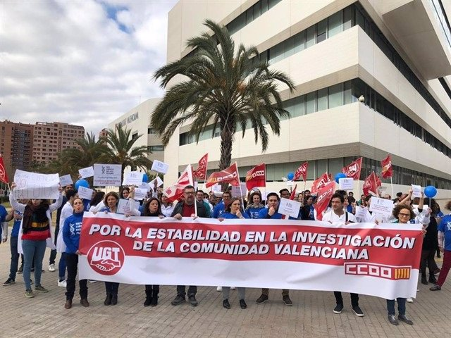 Reciente protesta de investigadores de Fisabio