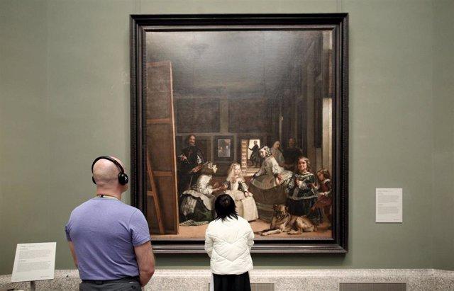 Sala de Las Meninas del Museo Nacional del Prado el mismo día en el que el Museo, junto con el Reina Sofía y el Thyssen, cierra como medida de contención frente a la crisis del coronavirus, en Madrid (España) a 11 de marzo de 2020.