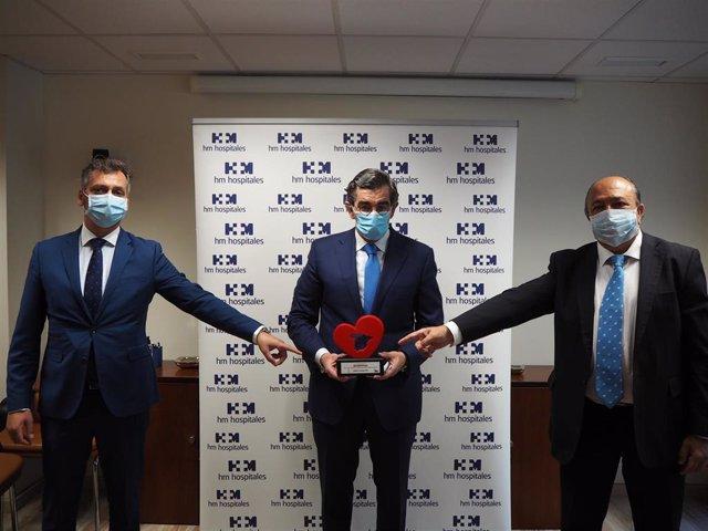 HM Hospitales recibe el galardón 'España en el corazón' por su contribución a la lucha contra el COVID-19