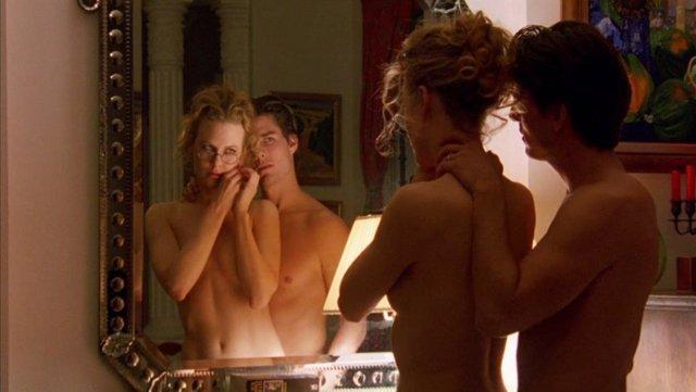 Tom Cruise y Nicole Kidman en Eyes Wide Shut de Kubrick