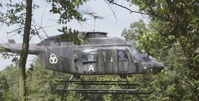Helicóptero en The Walking Dead