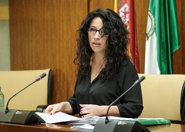 La consejera andaluza de Igualdad, Rocío Ruiz, en una foto de archivo en comisión parlamentaria.