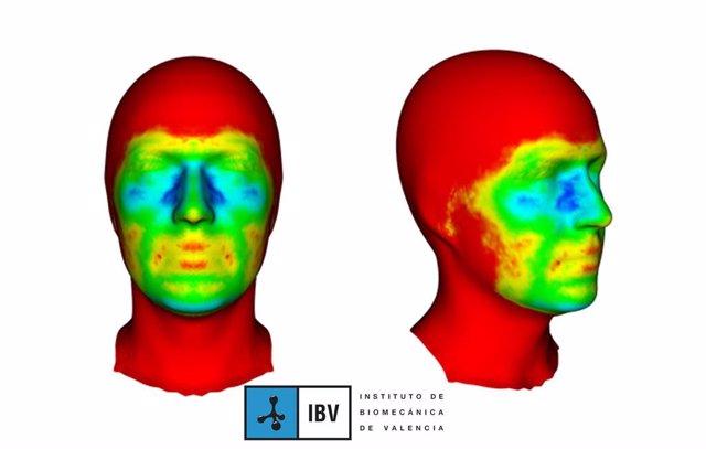 Mapa de variabilidad de la cara