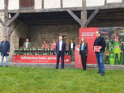 La cosecha Euskal Sagardoa alcanza los 3,2 millones de litros de sidra elaborada con 5,5 kilos de manzana autóctona