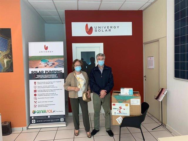 Donación de mascarillas de Univergy Solar en Palencia