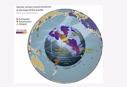 Inesperadas estructuras se extienden cerca del núcleo terrestre