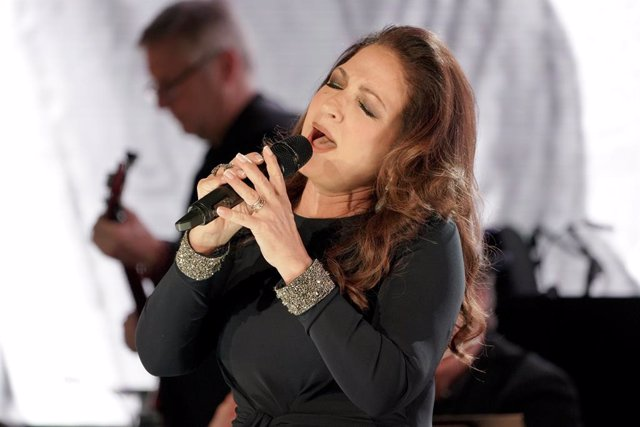 Gloria Estefan performs onstage at the Statue Of Liberty Museum Opening Celebration on May 15, 2019 at Ellis Island in New York City