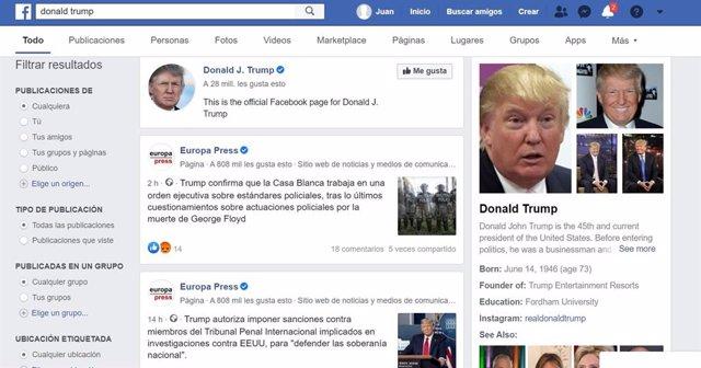 Facebook prueba a mostrar paneles información de Wikipedia en las búsquedas