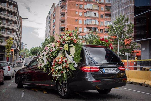 Traslladen les restes mortals Rosa Maria Sardà al Crematori de Montjuïc de Barcelona