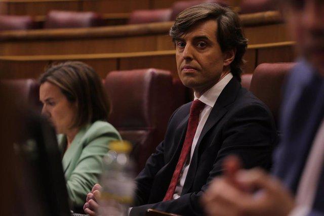 El vicesecretario de Comunicación del Partido Popular, Pablo Montesinos, en una foto de archivo en el Congreso de los Diputados.