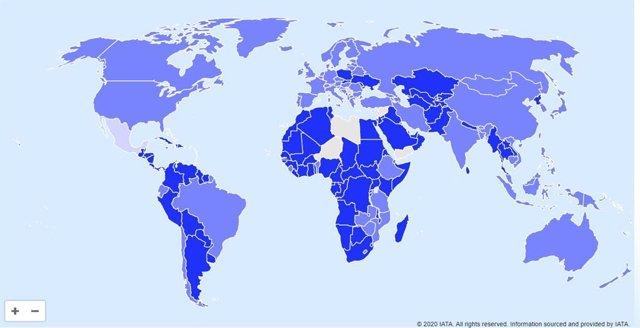 Economía.- La IATA crea un mapa interactivo para informar a los viajeros de las