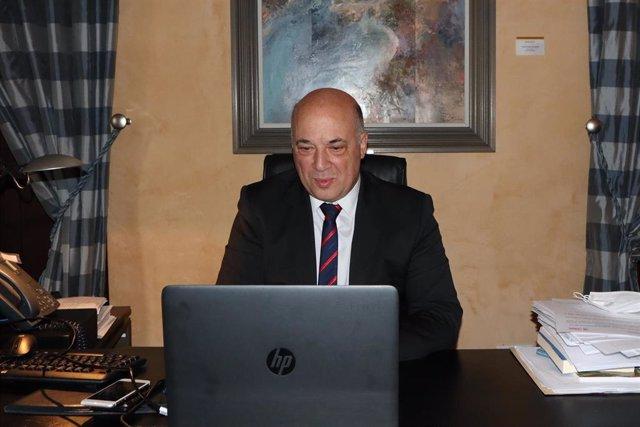 El presidente de la Diputación de Córdoba, Antonio Ruiz, durante su participación en el encuentro digital 'Gestión y proyectos de la provincia tras la covid-109 de 'Diario Córdoba'