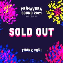 Coronavirus.- El Festival Primavera Sound 2021 agota entradas en diez días