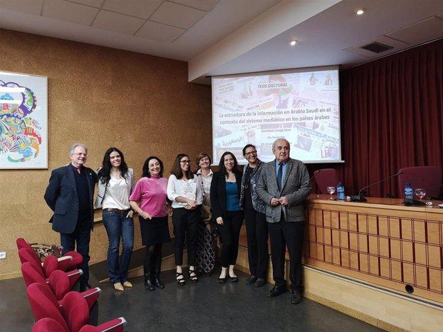 Rafael Valencia en el acto de defensa de una tesis doctoral en la Facultad de Comunicación de la Universidad de Sevilla en el mes de febrero de 2020.