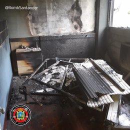 Incendio en una vivienda de Astillero