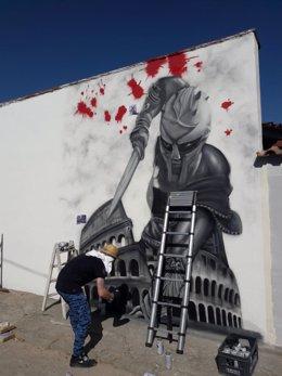 Grafiteros en Driebes (Guadalajara).