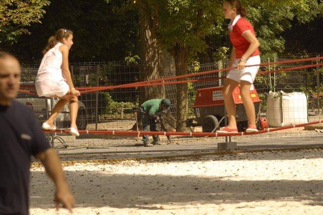 Parque infantil en Gijón