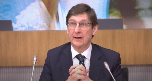 El presidente de Bankia, José Ignacio Goirigolzarri, durante la Cumbre Empresarial 'Empresas españolas liderando el futuro' organizada por CEOE.