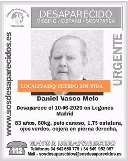 Imagen del hombre desaparecido cuyo cuerpo sin vida ha sido hallado en la localidad de Leganés.