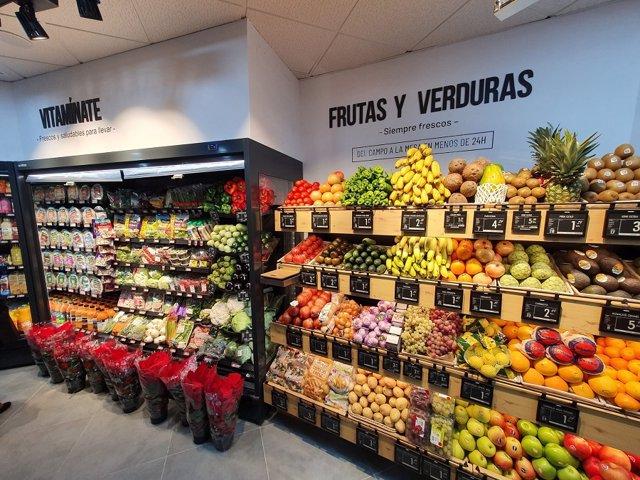 Etiquetado electrónico en un supermercado MAS & Go de Sevilla