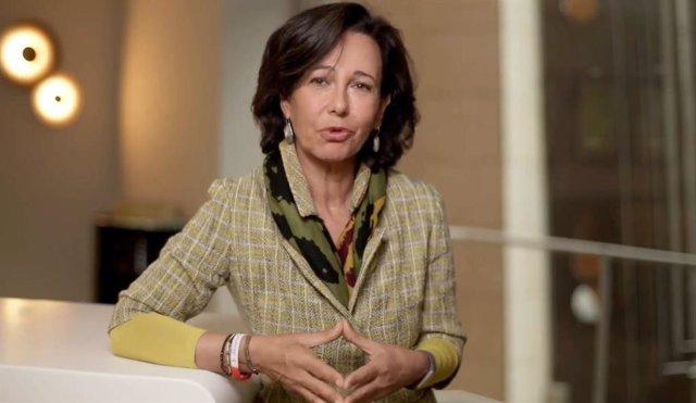 La presidenta de Banc Santander, Ana Botín, en la cimera empresarial de la CEOE.