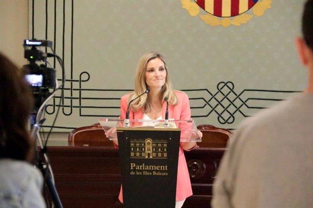 La portavoz adjunta de Ciudadanos (Cs) en el Parlament, Patricia Guasp