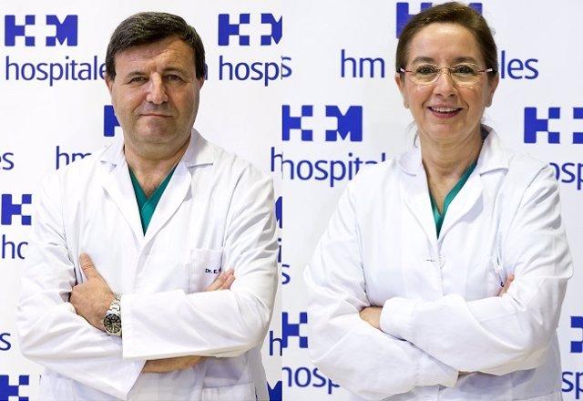 El Dr. Emilio Vicente y la Dra. Yolanda Quijano, director y co-directora respectivamente del Servicio de Cirugía General y Digestiva del Hospital Universitario HM Sanchinarro.