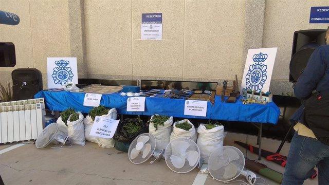 Operación Cerezo contra el narcotráfico en Puertollano.