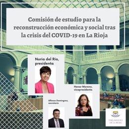 El Parlamento de La Rioja continúa los trabajos para elaborar conclusiones sobre las reformas tras la COVID-19