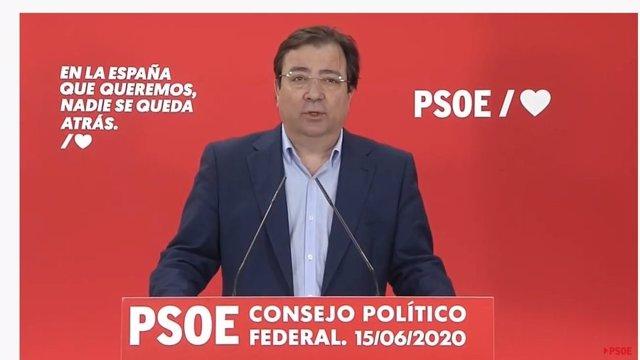 Vara en rueda de prensa tras el Consejo Político Federal del PSOE