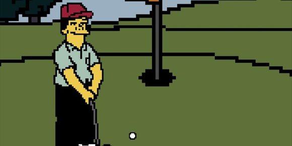 2. Un desarrollador hace realidad el mítico videojuego de golf 'Lee Carvallo's Putting Challenge' de Los Simpson