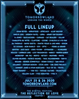Cartel del Tomorrowland digital