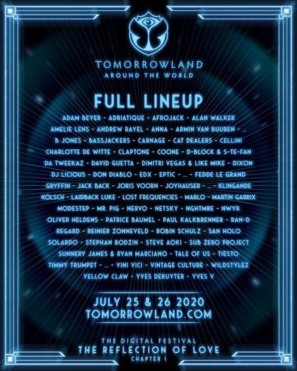 El Tomorrowland digital tendrá a David Guetta, Martin Garrix, Steve Aoki, Tiësto, Armin Van Buuren, Don Diablo...