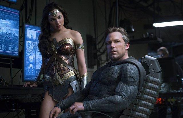Wonder Woman (Gal Gadot) y Batman (Ben Affleck) en Liga de la Justicia