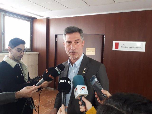 El portavoz del grupo municipal de JxCat en el Ayuntamiento de Barcelona, Jordi Martí (archivo)