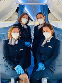 Air Europa entregará mascarillas a todos sus pasajeros