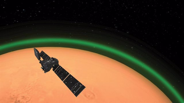 Marte también registra el resplandor verdoso visto en la atmósfera terrestre