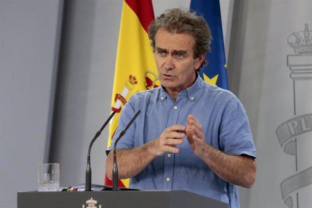 Fernando Simón en rueda de prensa en la Moncloa
