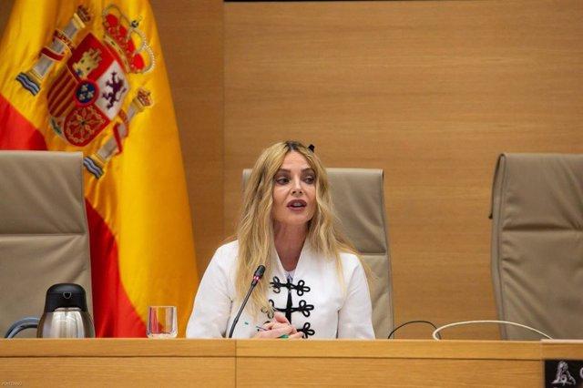 La presidenta del Observatorio contra la Violencia de Género del CGPJ, María Ángeles Carmona, en el Congreso
