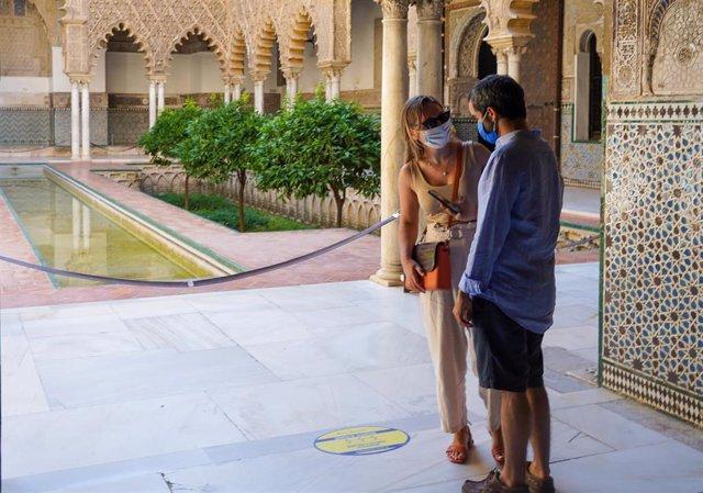 El Real Alcázar de Sevilla, ha reabierto este lunes sus puertas a los visitantes. Sevilla a 15 de junio del 2020