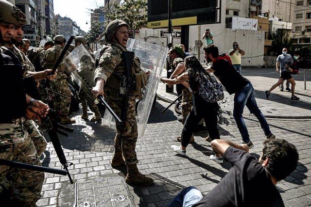 Líbano.- Al menos 36 personas han sido detenidas en las protestas celebradas en