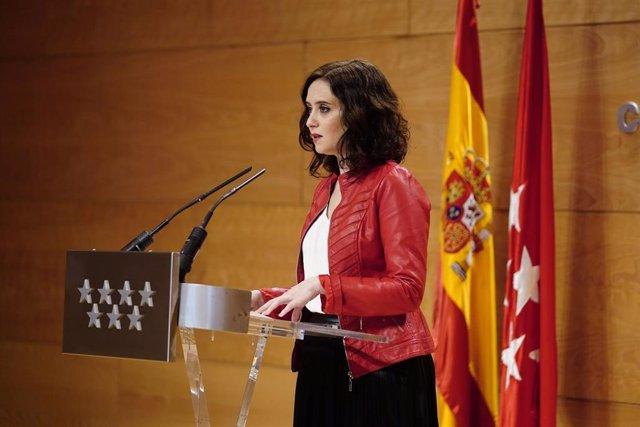 Imagen de recurso de la presidenta de la Comunidad de Madrid, Isabel Díaz Ayuso. Archivo.