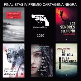 Novelas finalistas del Festival de Novela Cartagena Negra 2020