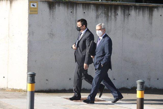 Els excaps polítics dels Mossos d'Esquadra arriben a l'Audiència Nacional on se'ls jutja per participar en el procés independentista català de l'1-O , Madrid (Espanya), 15 de juny del 2020.